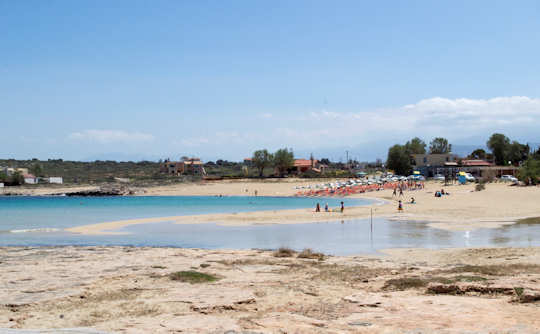 Stavros Beach near Chania, on the Akrotiri peninsula, is a small cove with shallow waters
