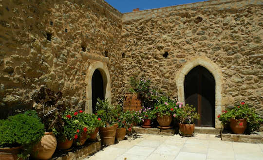 Toplou Monastery Courtyard (image by Mark Latter)