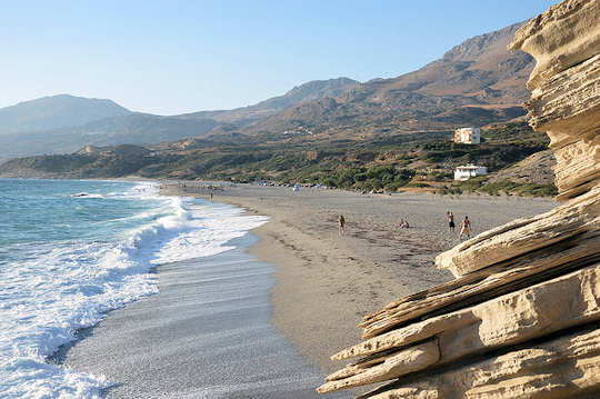 Triopetra is a wide sandy beach in the south of Crete