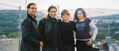 Taso and Toli and friends in the village in Crete