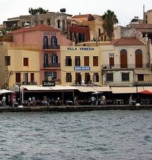 Old Harbour showing the Villa Venezia