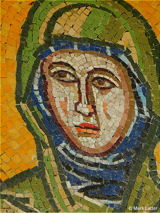 Mosaic of the Virgin Mary