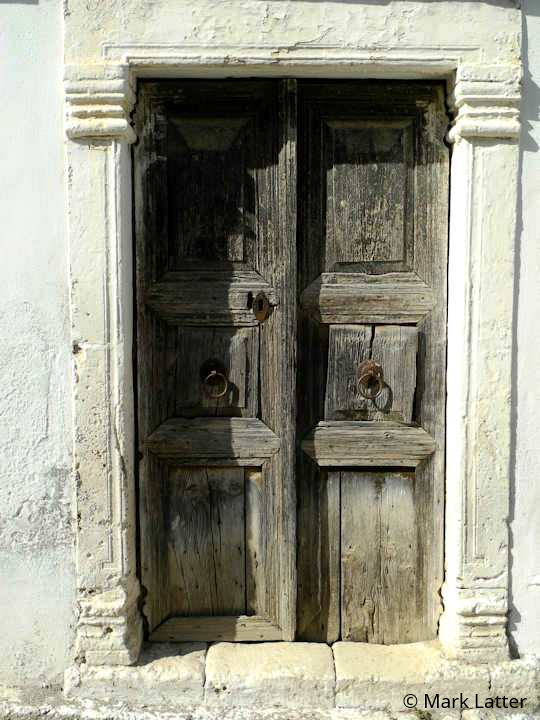 Old wooden doors of Vori (image by Mark Latter)