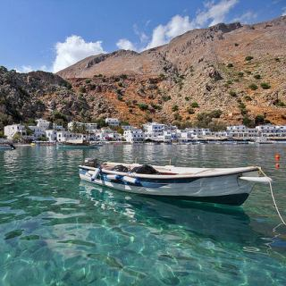 Clear waters in Loutro harbour