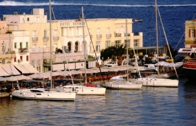 Syros Island - the harbour of the capital Ermoupolis