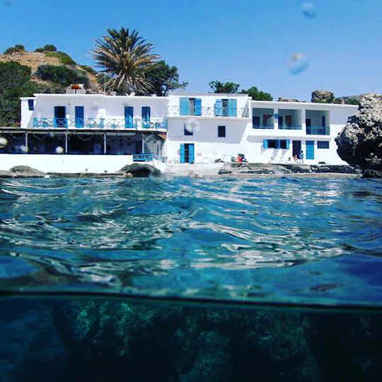 Agia Fotini Taverna on Agia Fotia Beach in south Rethymnon