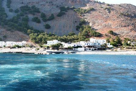 Stay at Agia Roumeli and take the ferry out the next day