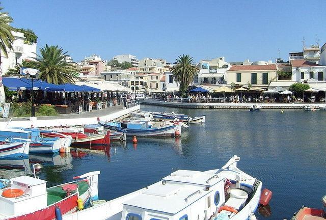 Agios Nikolaos is a pretty harbourside town in eastern Crete.