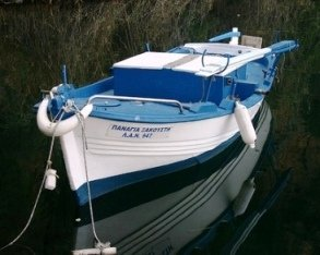 Lake Voulismeni Fishing Boat (image by Boky)