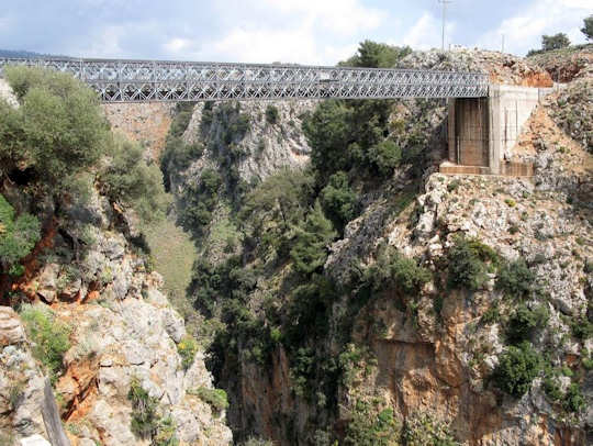 The bridge over Aradena Gorge where the walk starts
