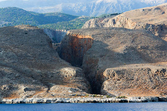 Aradena Gorge is close to Loutro - Marmara Beach is at the entrance