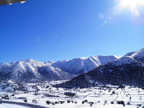 Lefkoritis Mountain Resort in Snow, White Mountains, Crete