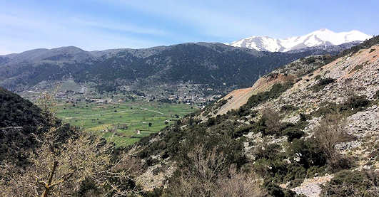 Askifou Plateau and the Mountains in Crete