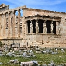 Athens Half Day Touring - the Cariatides Καρυάτιδες on the Acropolis