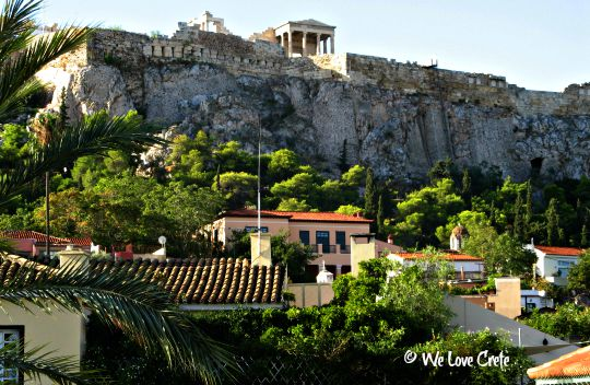 Acropolis and Plaka - the view from my breakfast table