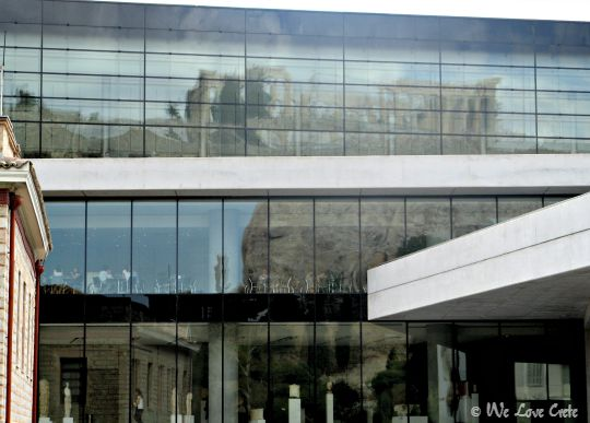 Acropolis Museum - reflections of the Parthenon