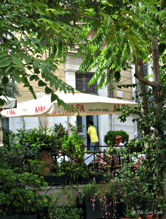 Stay cool in Athens in summer - relax in leafy Plaka and enjoy the local cafe-bars