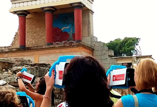 Augmented reality tablets by Moptil at Knossos Palace, Crete
