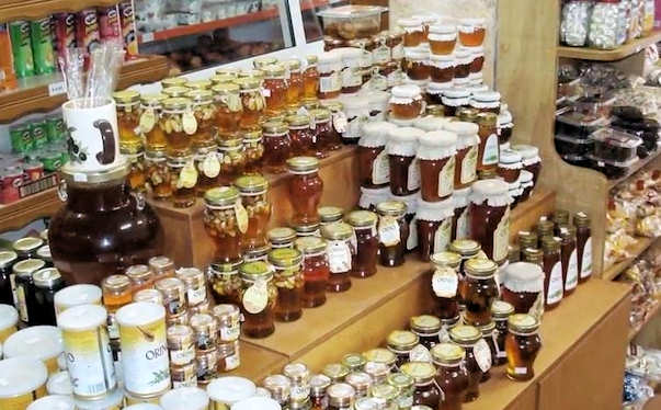 Gaia local food products - try the Cretan honey