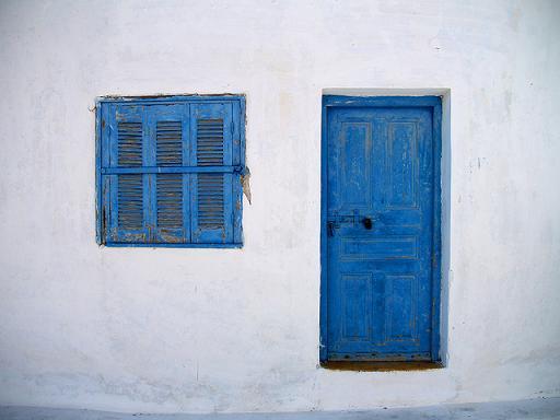 Blue Door, Greece by PHOTOGRAPHRdotNET