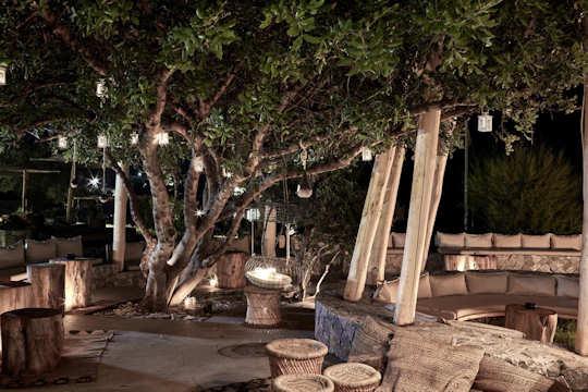 Garden restaurant at the Blue Palace Resort