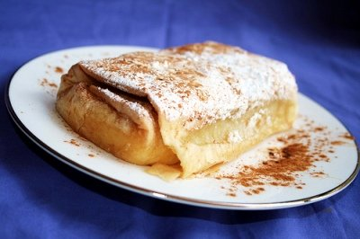 Greek Pastries Bougatsa (image by Savvas Limnatitis)