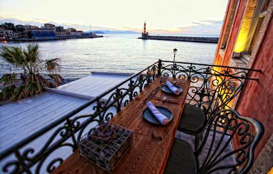 Romantic Greece Vacation - View over Chania Harbour, Crete