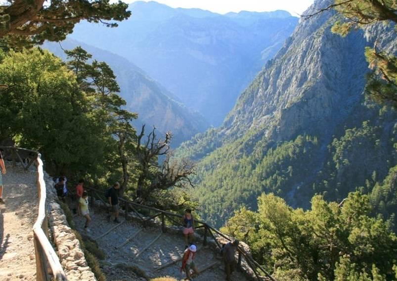 The start of Samaria Gorge Walk