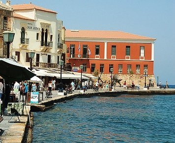 Chania old harbour, showing Fort Firca and the Maritime Museum