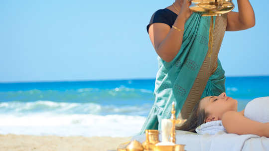 Creta Palace - Ayerveda treatment on the beach
