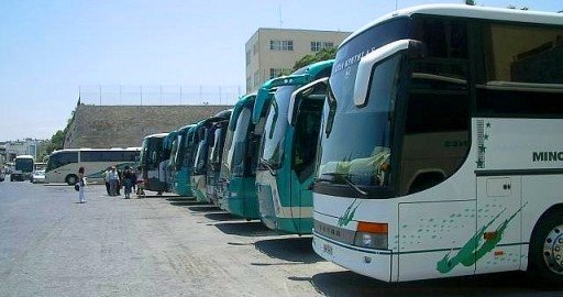 Regional buses at Bus Station B in Heraklion