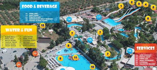 Limnoupolis Water Park just outside Chania, Crete