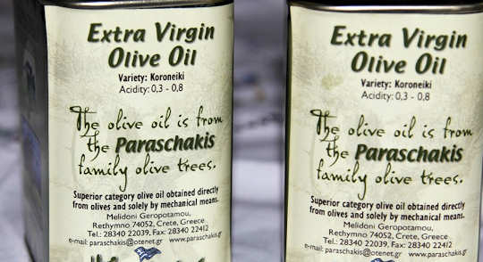 Olive Oil from the Paraschakis family in Rethymnon, Crete