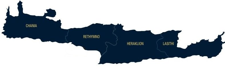 Regions of Crete Location Map
