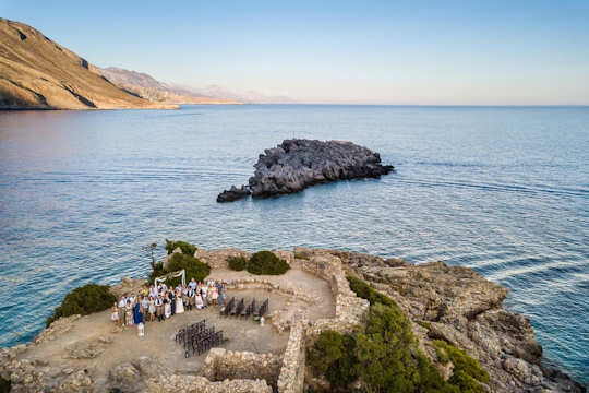 A remote location for a stunning outdoor wedding by Crete for Love (image by Andreas Markakis)