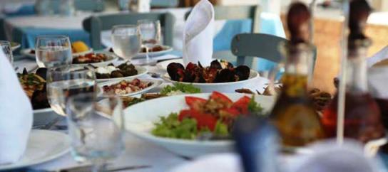 Taverna in Crete by the sea