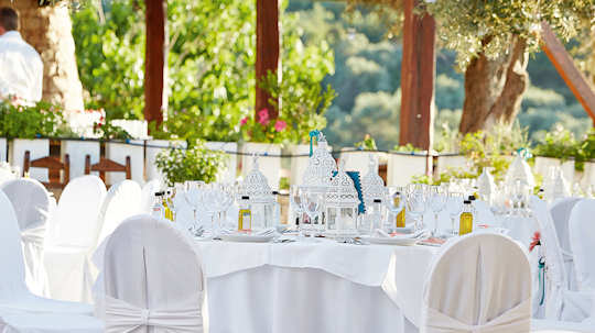 Agreco Farm outdoor tables decorated for a special function