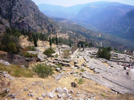 Views on the slopes of Mount Parnassus