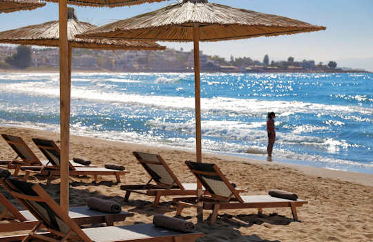 Agioi Apostoloi Beach on the north coast of Chania, Crete