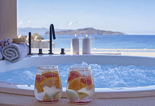 Domes Noruz Resort & Spa - located on Agioi Apostoli Beach just west of Chania Old Town.