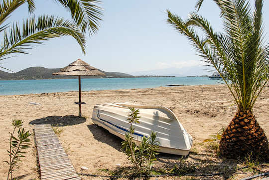 Elounda is a protected bay