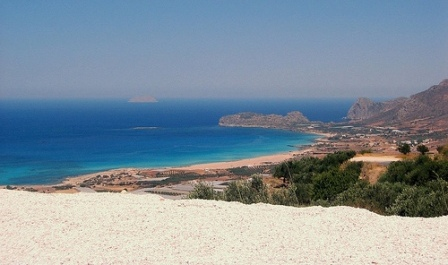 Φαλάσαρνα view over the whole beach from inland