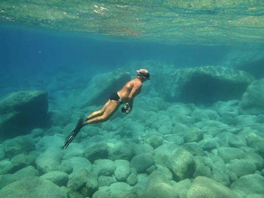 Mark doing what he loves best in Crete