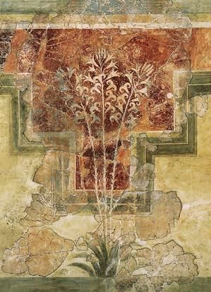 The Fresco of the Lilies was found at Ancient Amnisos in Crete