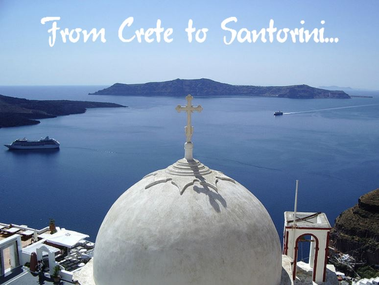 How to get from Crete to Santorini (image by David Fowler)