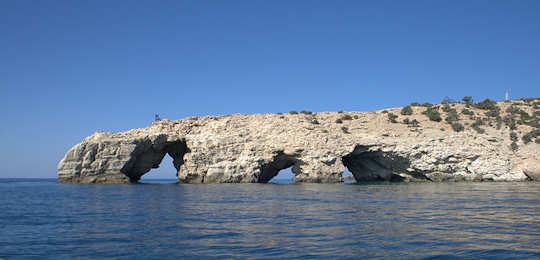 Tripiti - southernmost point of Gavdos - with chair on top (image by  Kostas Limitsios)