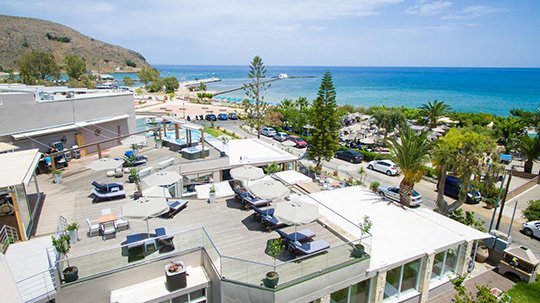 Georgioupolis Beach Hotel is central to everything