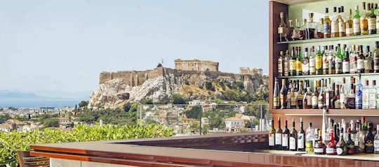Rooftop Bar overlooking the Acropolis