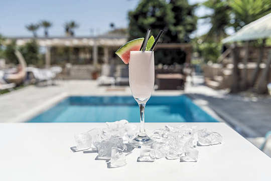 A cool drink at the pool bar of Hotel Georgia