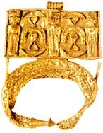 Gold jewellery found in the cave